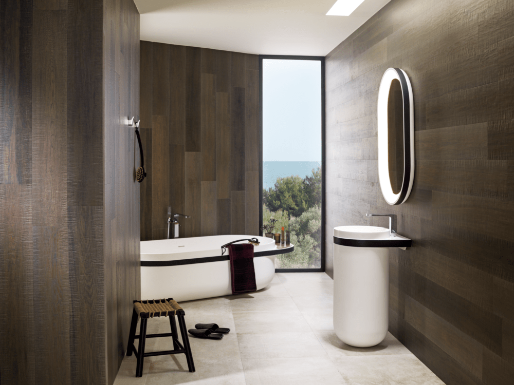 Krion Aro vannitoamööbel, valamukapp, segisti ja peegel