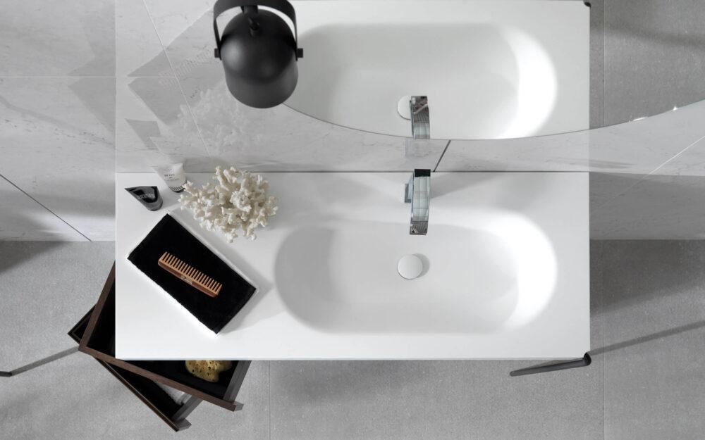 Krion Porcelanosa valamukapp peegelkapp peegel segisti